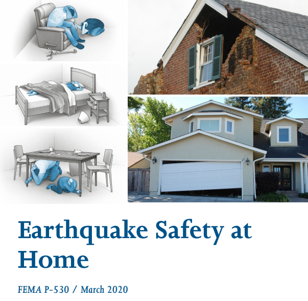 Screen shot of FEMA Earthquake Safety at Home document