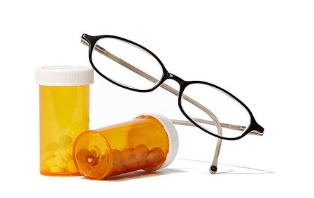 Prescription drugs and glasses